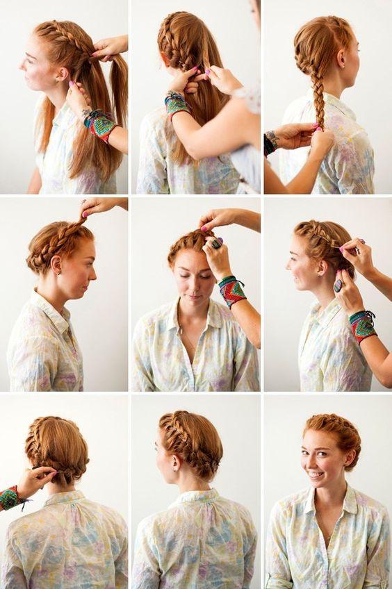 Плетение кос схема