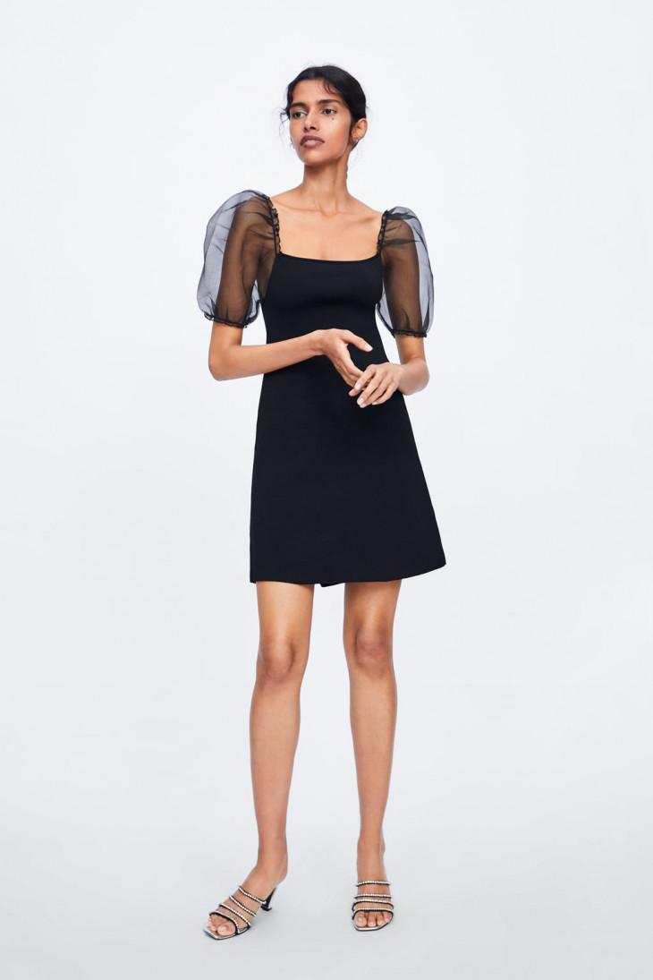 zara черное платье