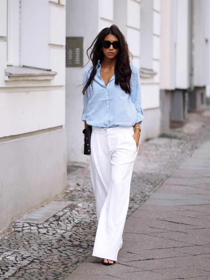 Белые брюки на лето