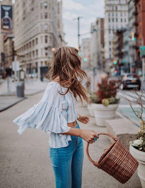 Плетеная сумка на лето