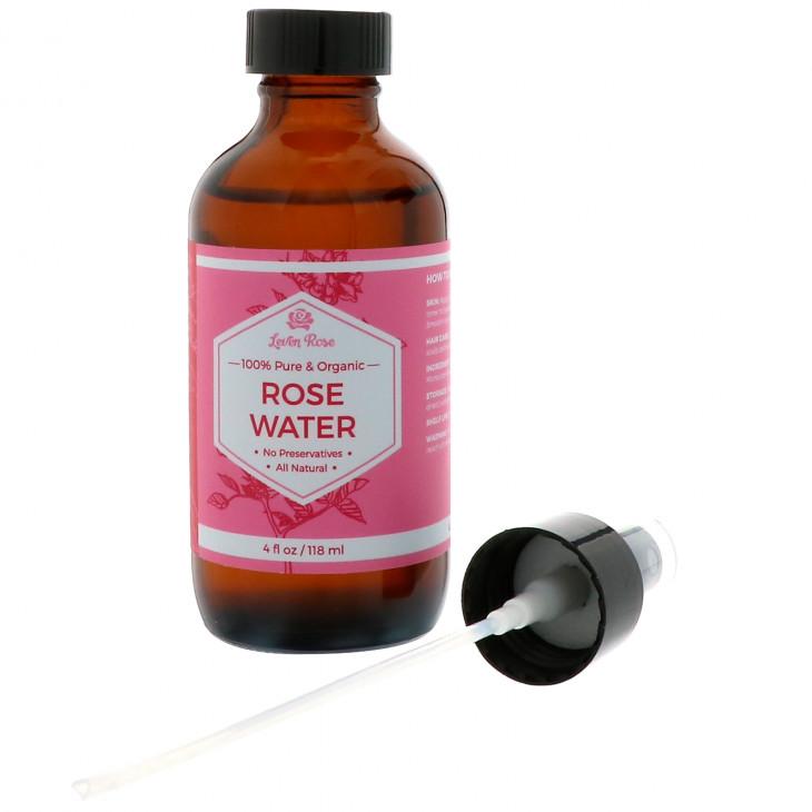 Розовая вода 100% Pure & Organic Rose Water от Leven Rose