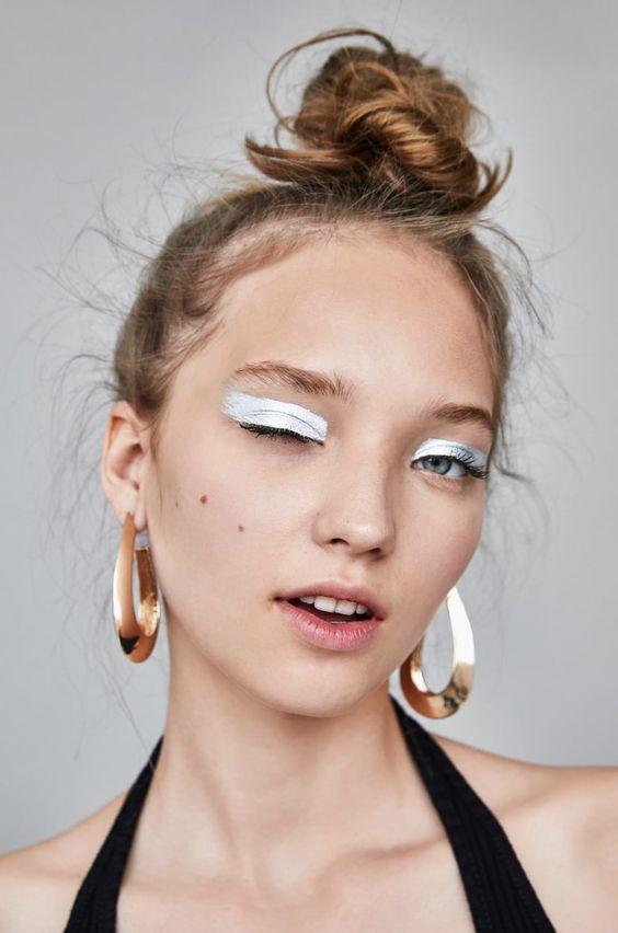 серебренный макияж