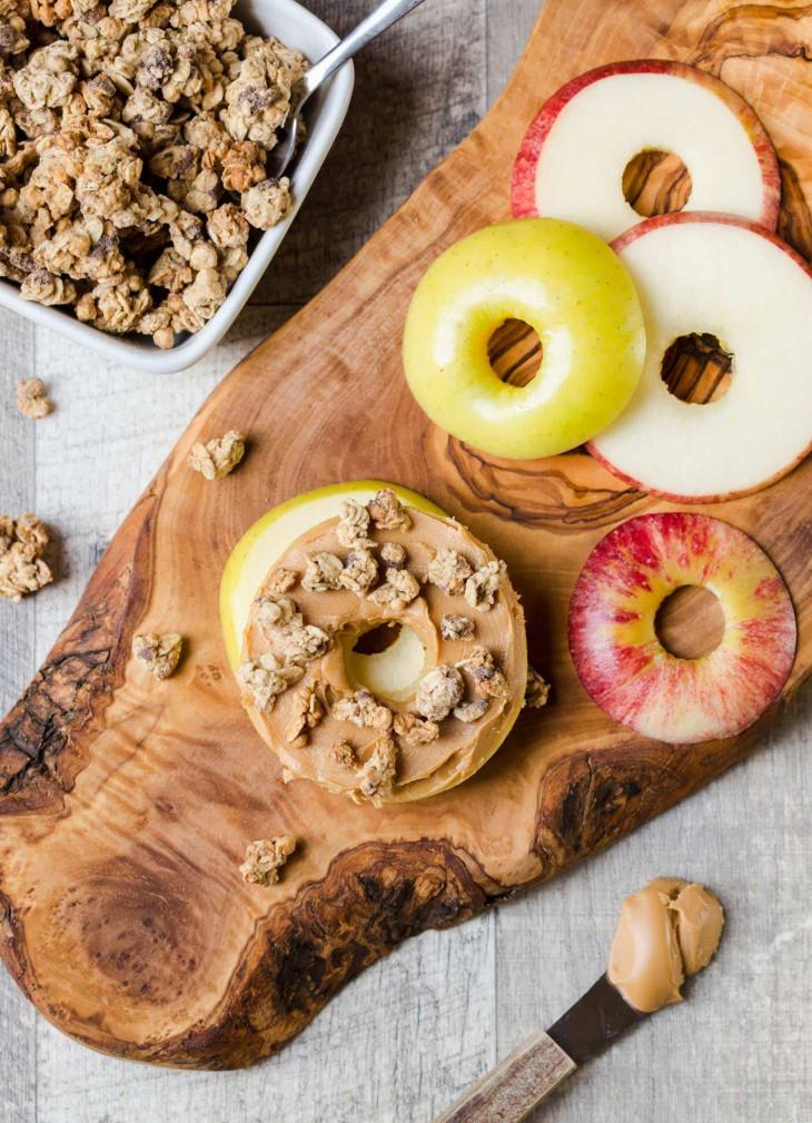 яблочный бутерброд с арахисовым маслом