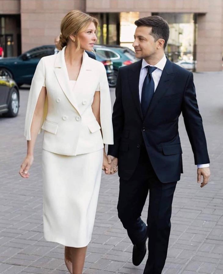 Владимир Зеленский с женой Еленой в день инаугурации