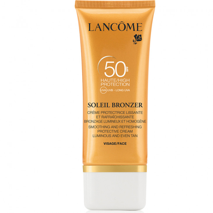Lancome SPF 50 Soleil Bronzer Smoothing Protective Cream