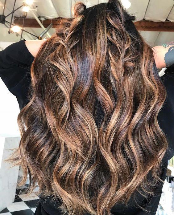 Мелирование на темные волосы фото