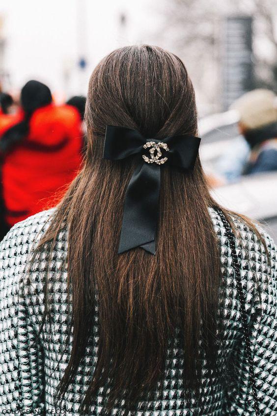 черная лента для волос