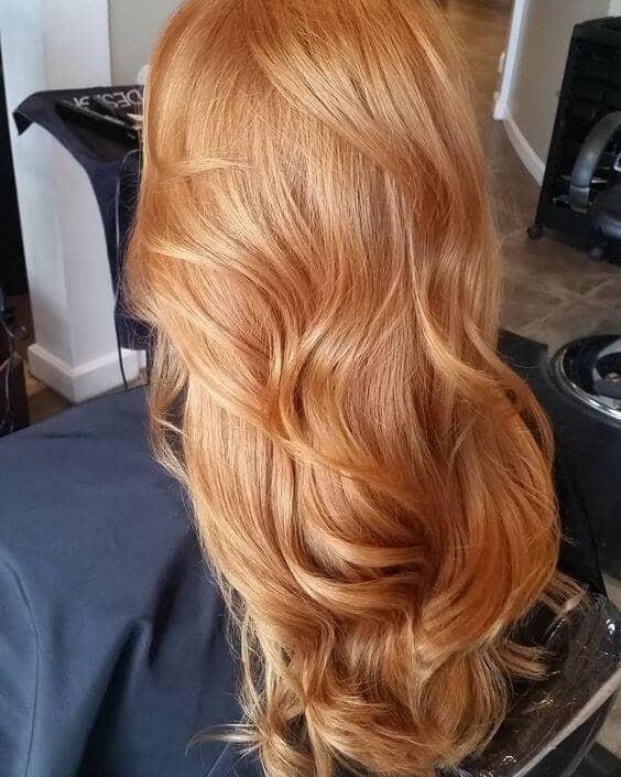 естественный клубничный блонд