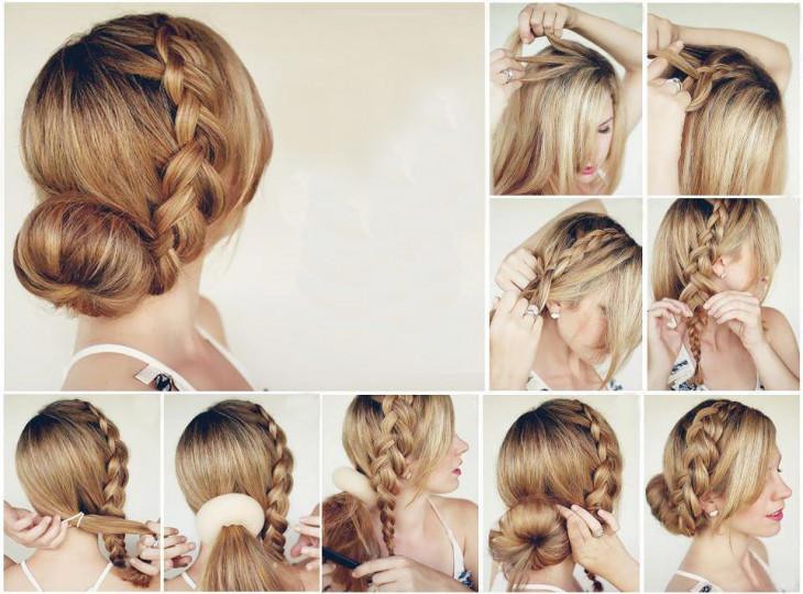 Как плести косу вокруг головы