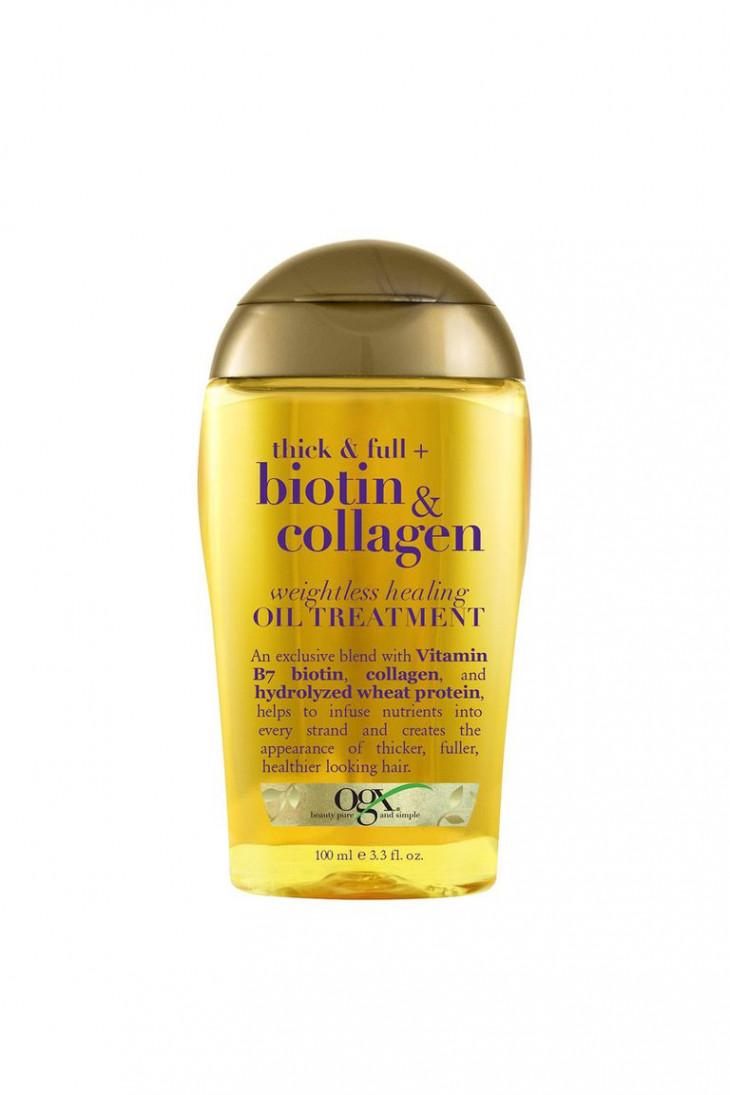 OGX Thick & Full Biotin & Collagen Weightless Healing Oil Treatment