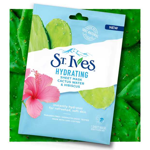 St. Ives Hydrating Cactus Water And Hibiscus Hydrogel Eye Mask