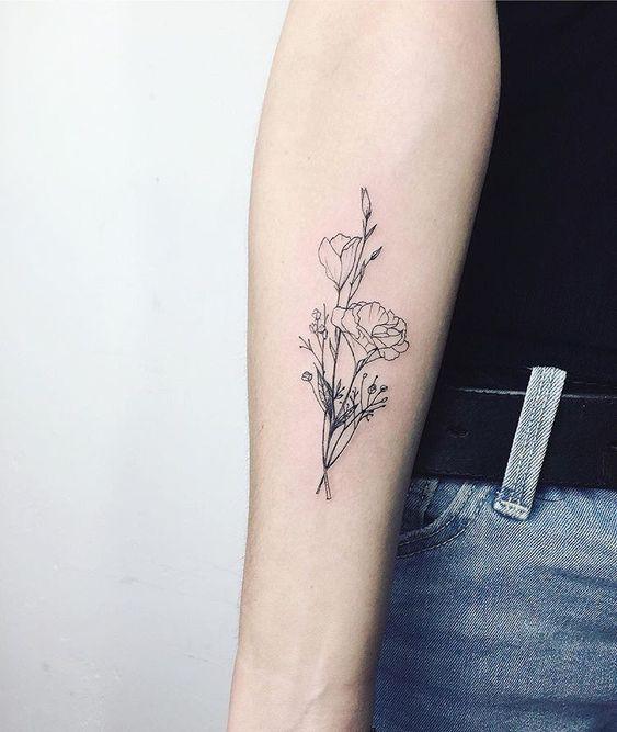 цветочная тату