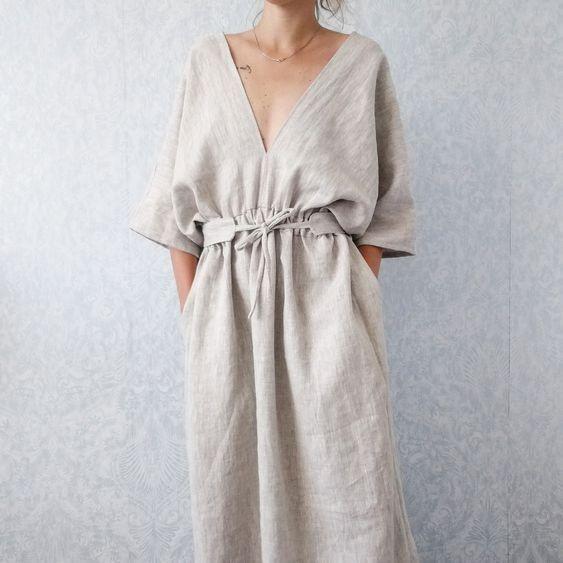 платье из льна 2019