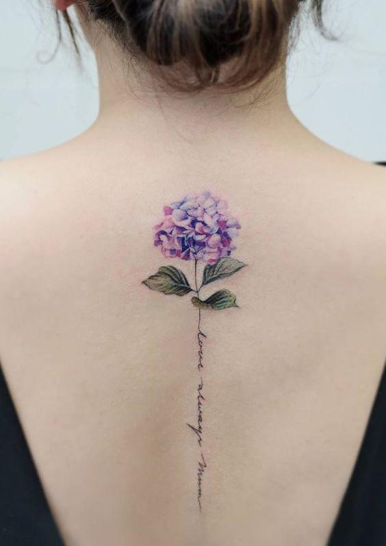татуировка гортензия