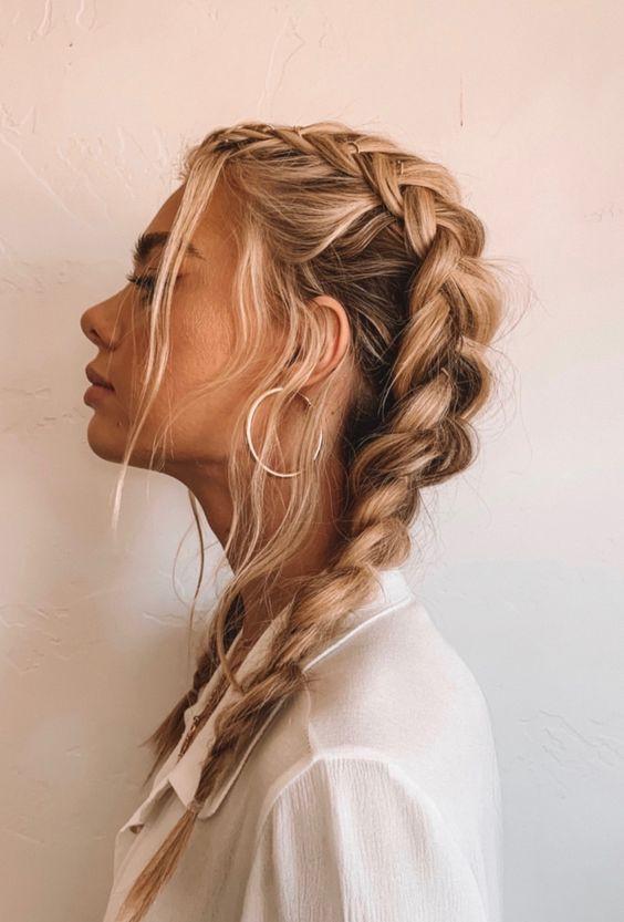 Красивая коса прическа
