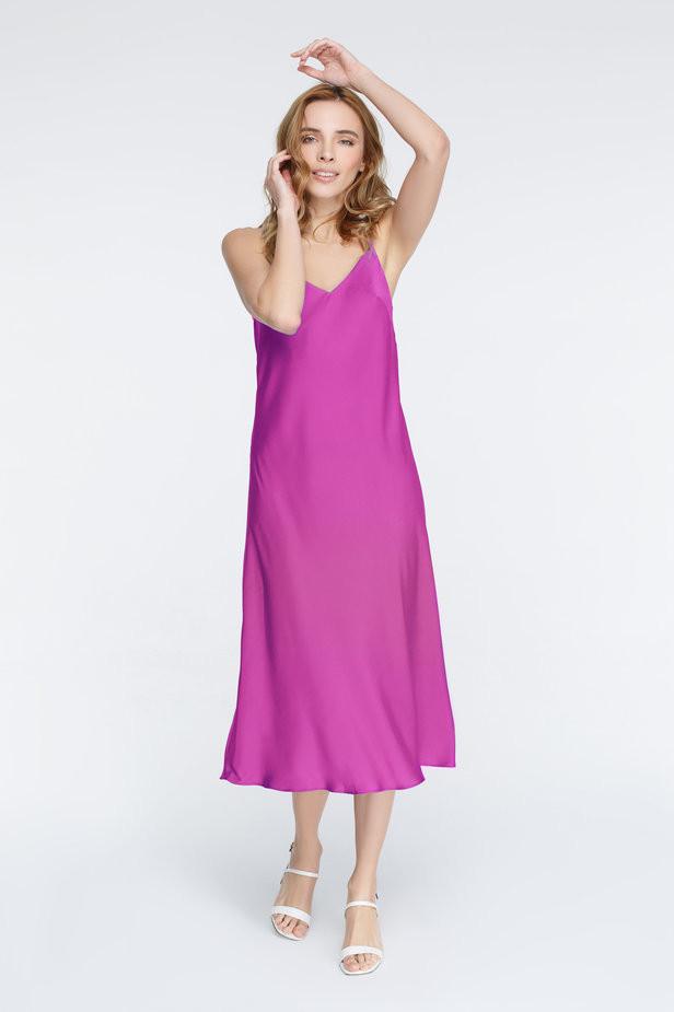 Платье-комбинация цвета фуксия MustHave