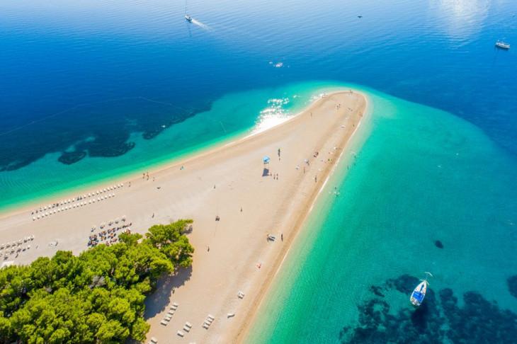 Zlatni Rat Beach Хорватия