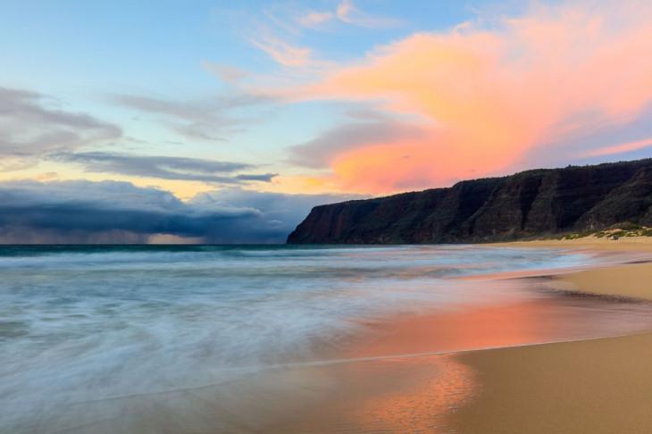 Polihale Beach, штат Гавайи