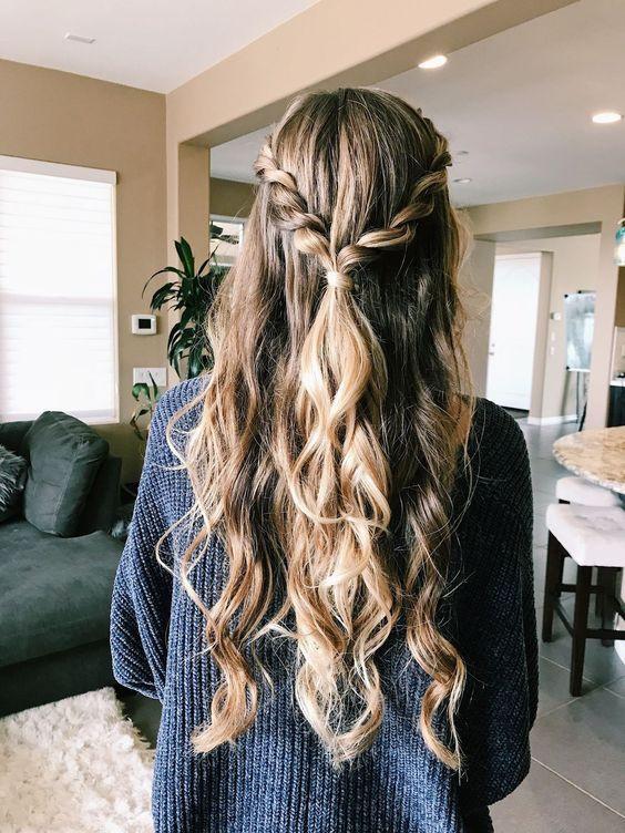 Красивое плетение волос