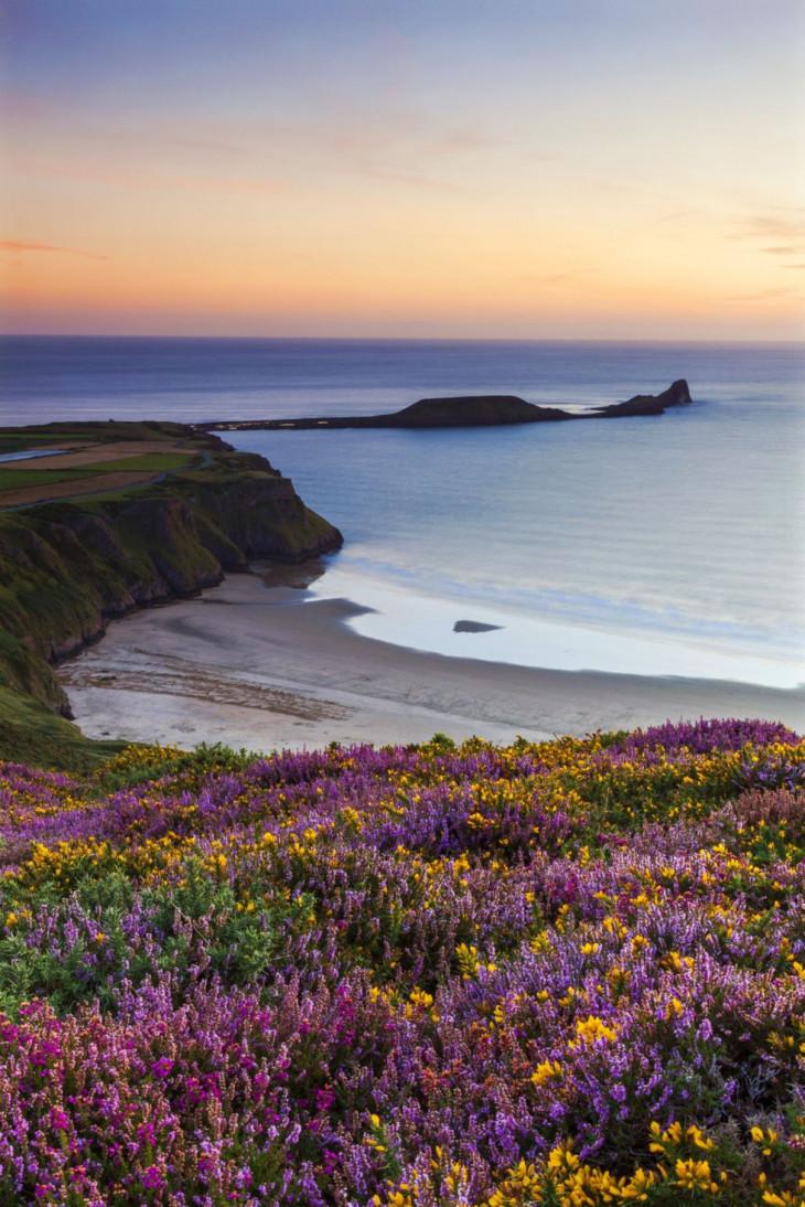 Россили-Бэй (Rhossili Bay), Уэльс
