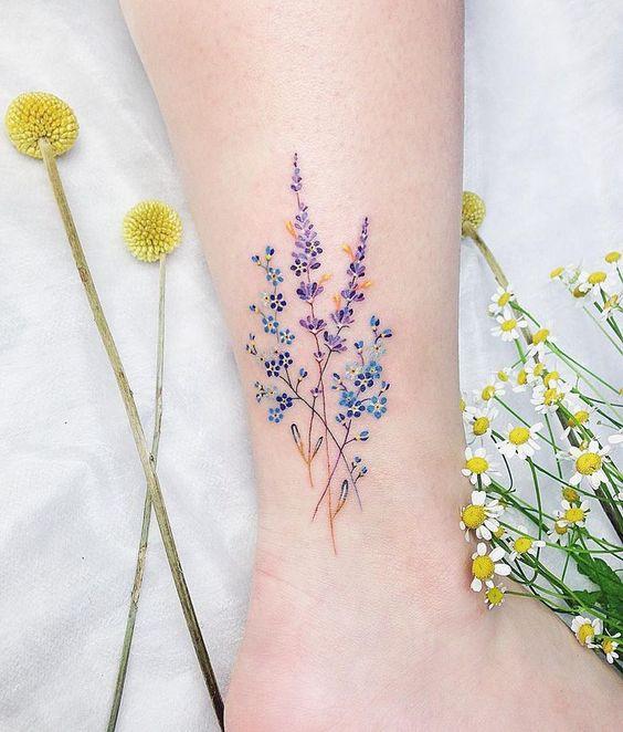 татуировка лаванда