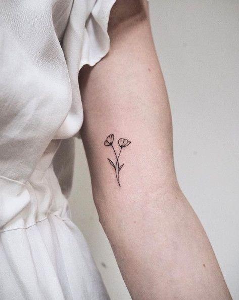 минималистичная тату