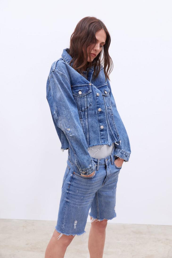 бриджи зара джинсовые