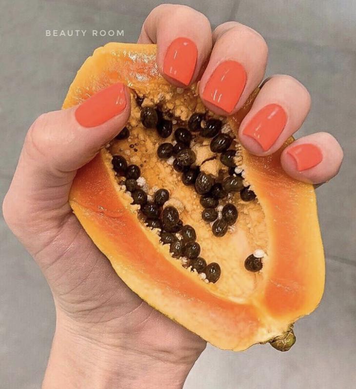 оранжевые ногти
