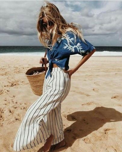 как выглядеть стильно на пляже