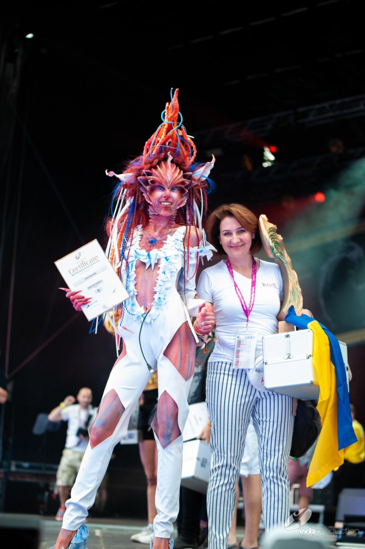 Украинская команда на World Bodypainting Festival 2019