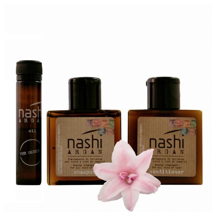Мини-форматы средств для мытья волос Nashi Argan Hair Travel Set