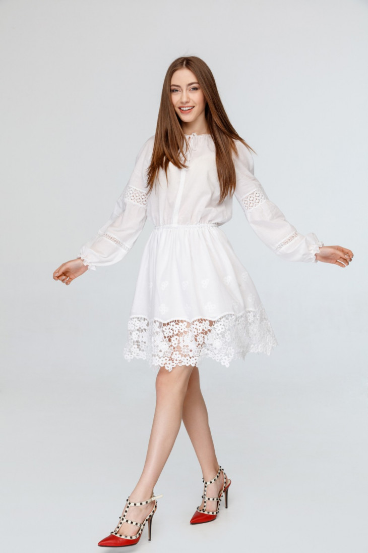 Zephyros платье с кружевом 2019