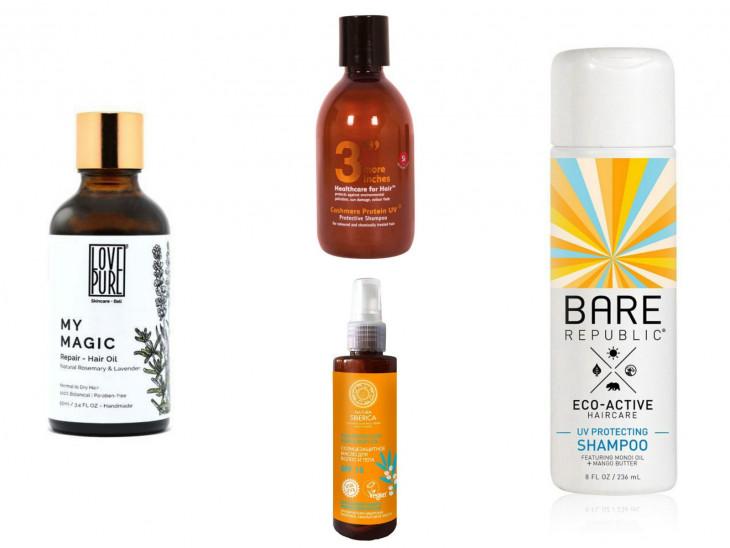 средства для защиты волос от солнца с SPF