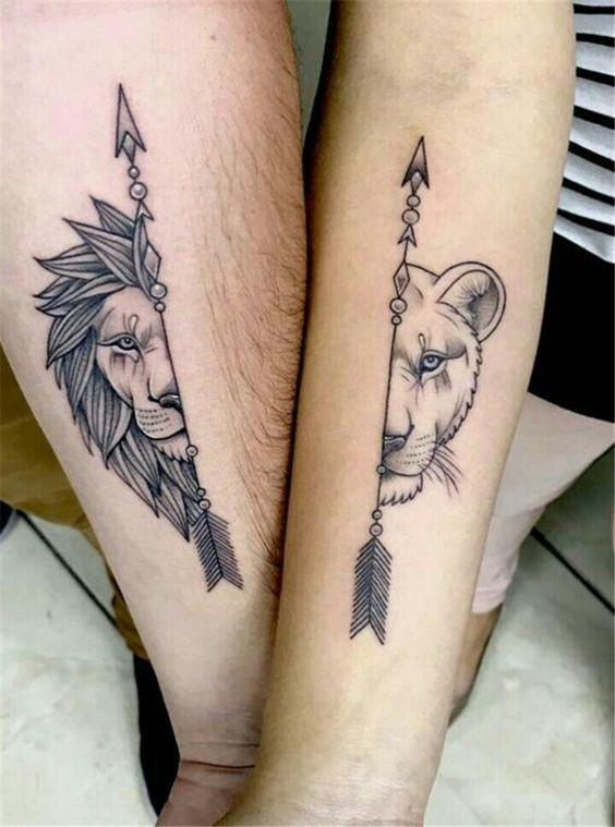 необычная парная татуировка