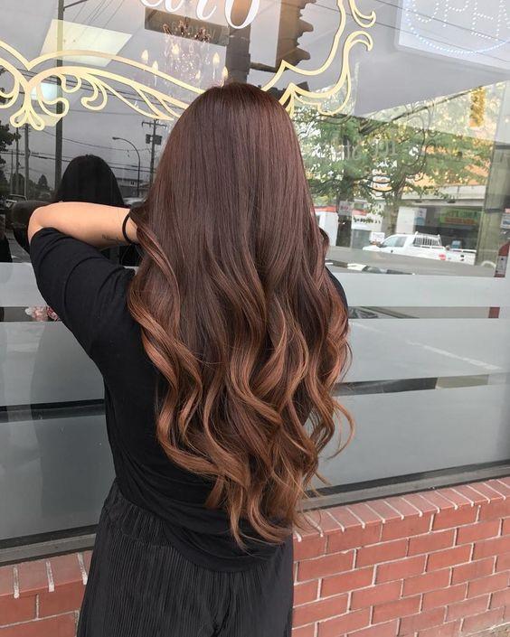 шоколадные волосы