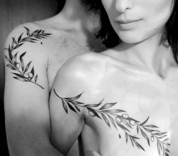 парная татуировка