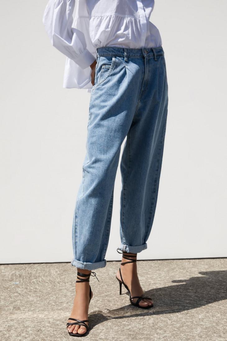 Свободные джинсыZara