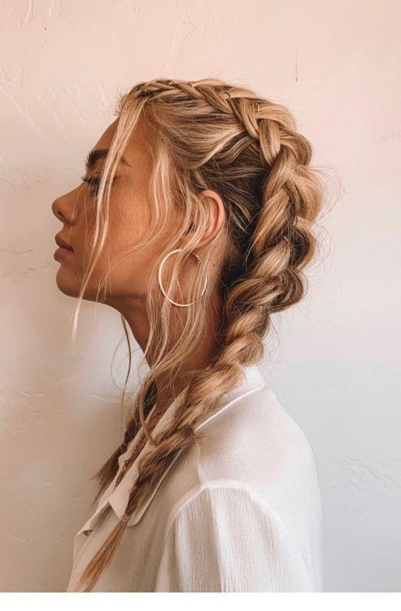 коса на кудрявые волосы