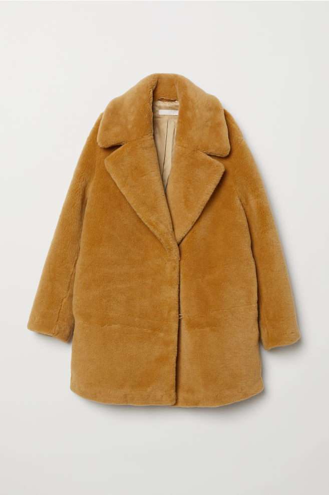 Пальто из искусственного меха H&M