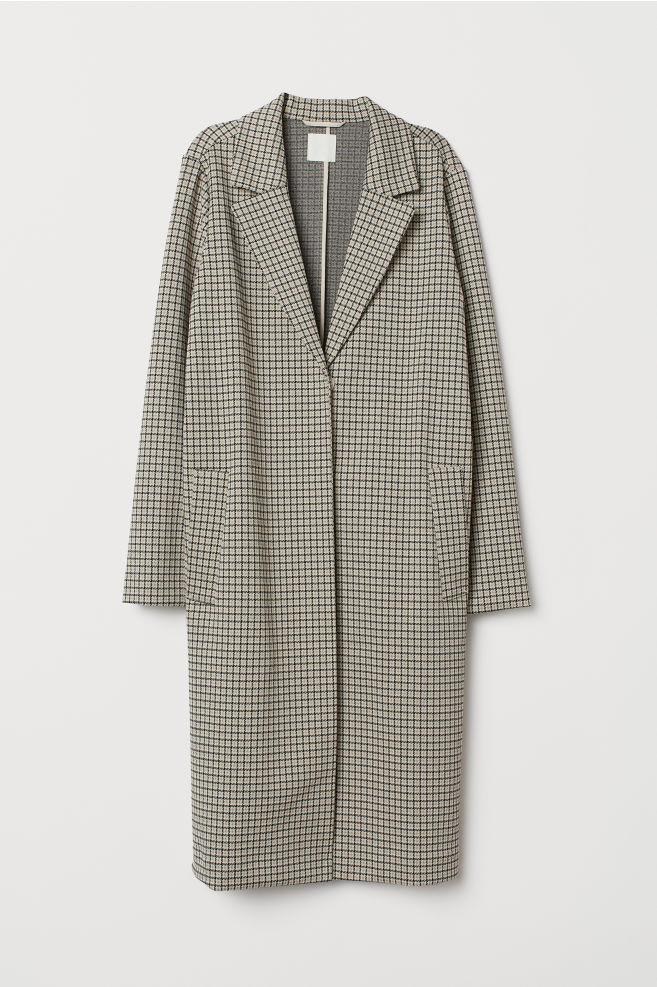 Прямое клетчатое пальто H&M
