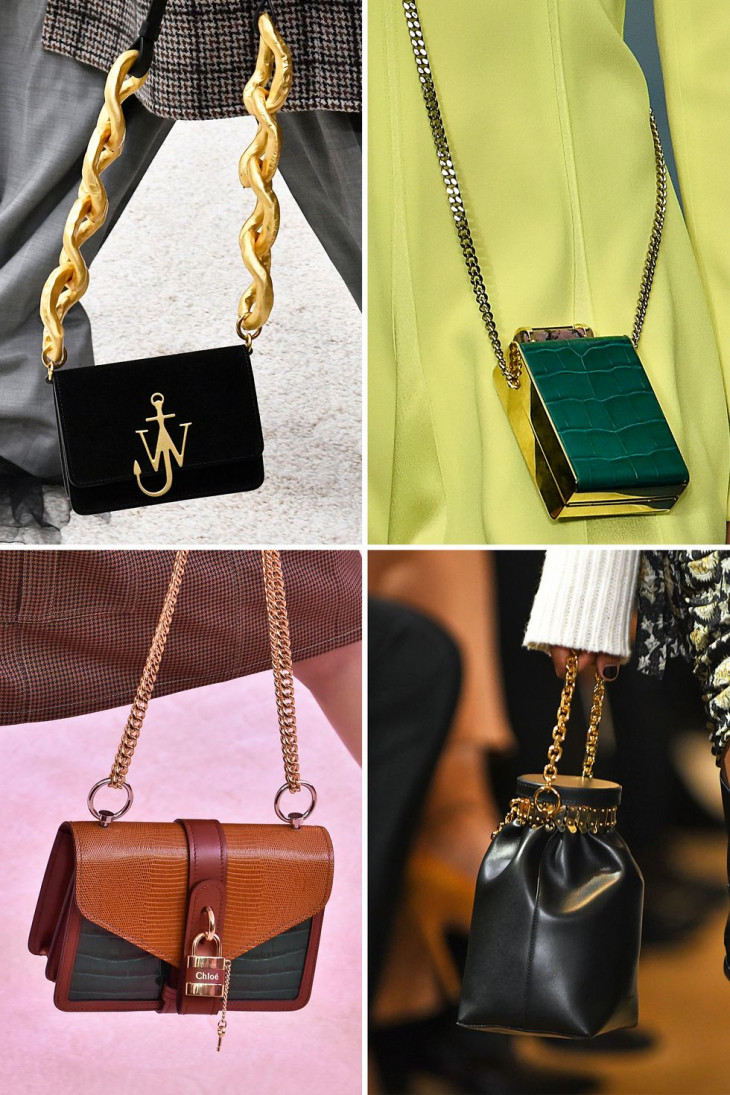 Модные сумки на цепочке