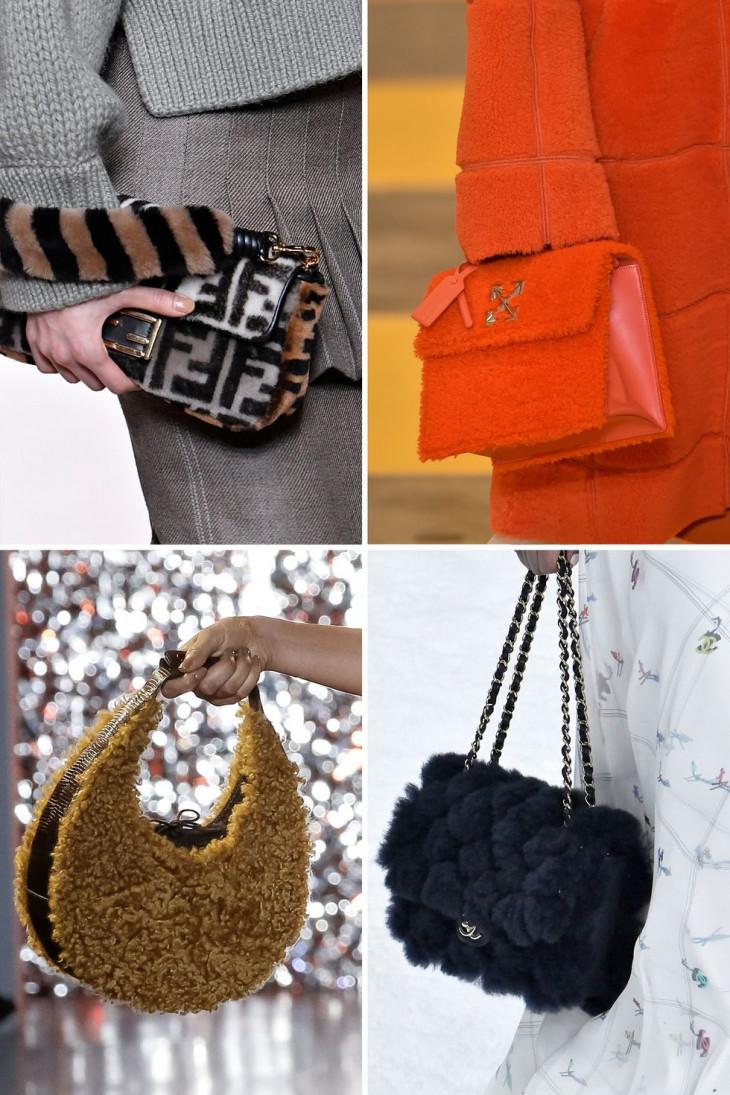 Модные плюшевые сумки