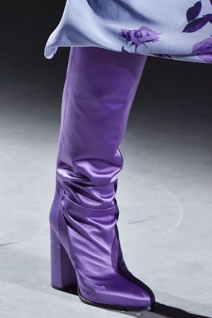 Фиолетовые сапоги осень 2019