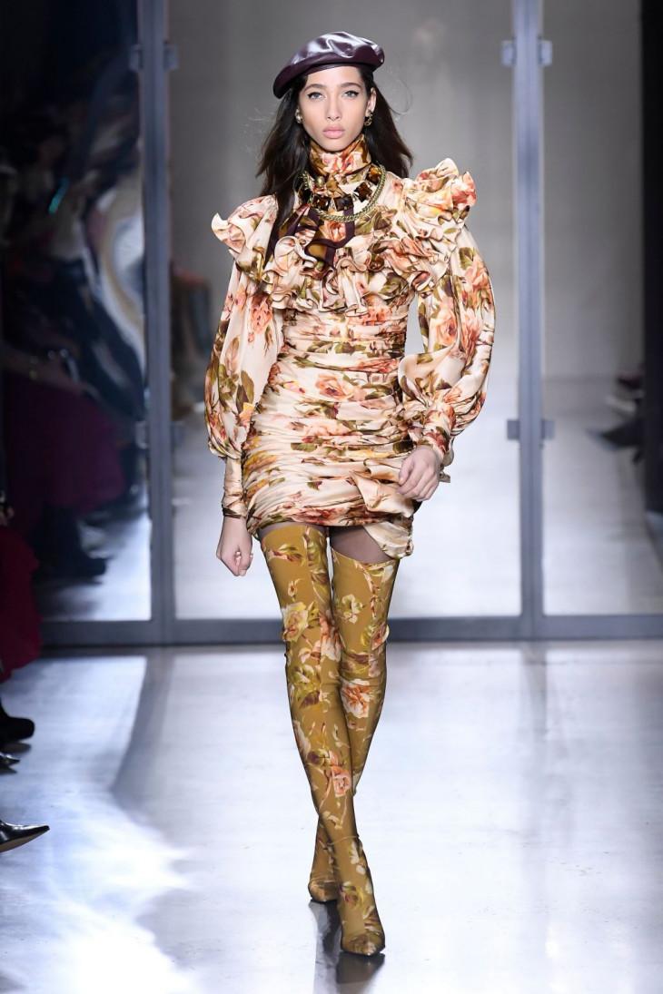 Модные сапоги с цветочным принтом осень 2019