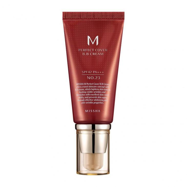 Глубоко питающий крем с защитой от солнца MISSHA M Perfect Cover BB Cream SPF42 PA+++