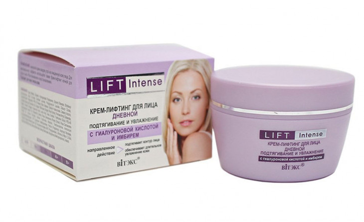 Крем-лифтинг для лица Bielita Витэкс Lift Intense с гиалуроновой кислотой и имбирем