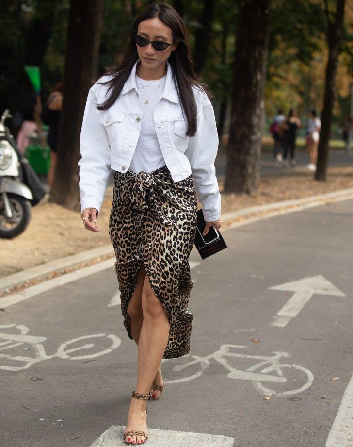 образы с леопардовой юбкой