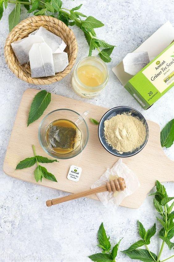 маски для лица с зеленым чаем