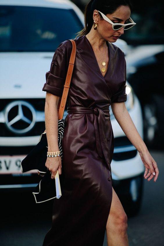 модное платье осень