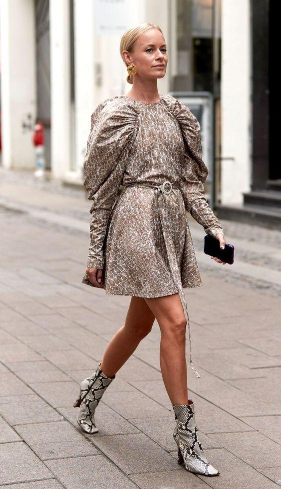 стильное платье осень